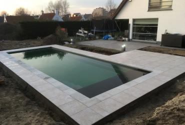 Zwembad De Panne Cube 105 Silver Grey