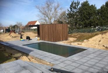 Zwembad Oostduinkerke Cube 90 Graphite Grey